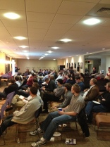 Keith Gregory presents to a packed house